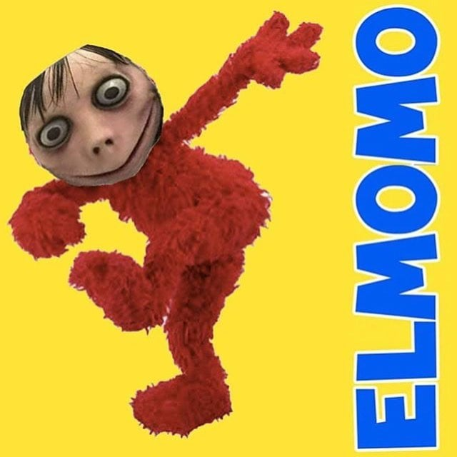 Momo and Elmo combined make Elmomo